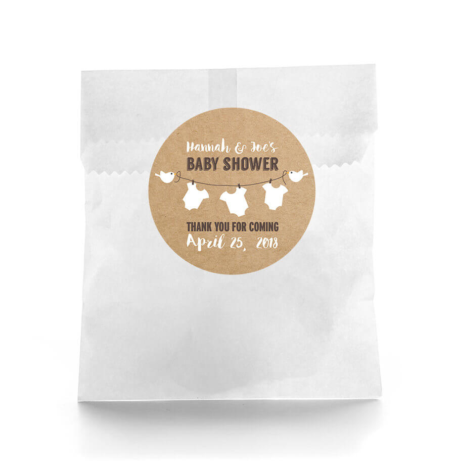 rustic baby shower baby shower favor labels