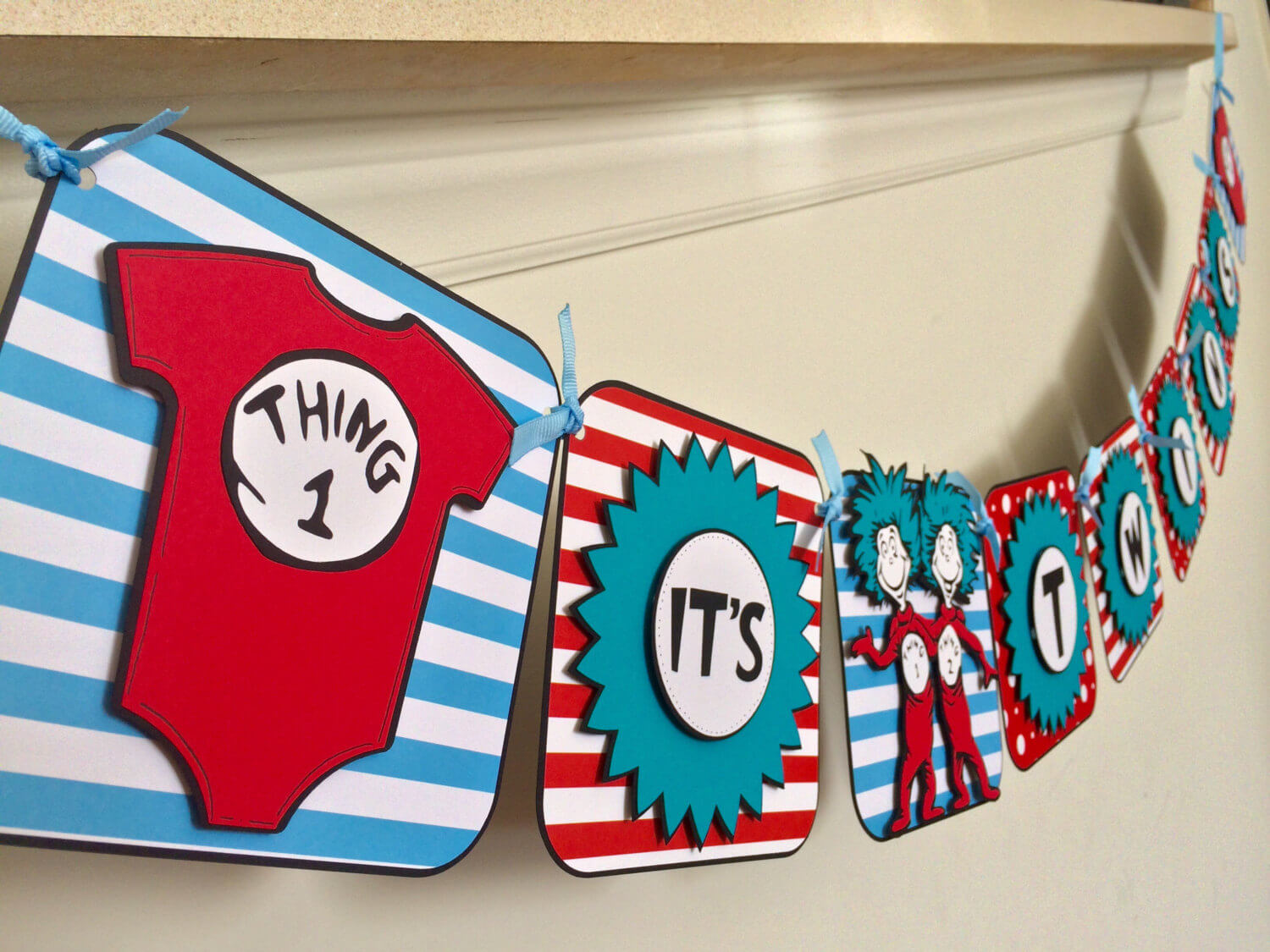 thing 1 and thing 2 baby shower banner