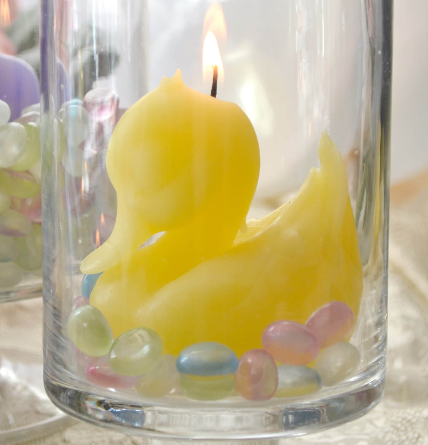 Yellow Duck Candle baby shower candle