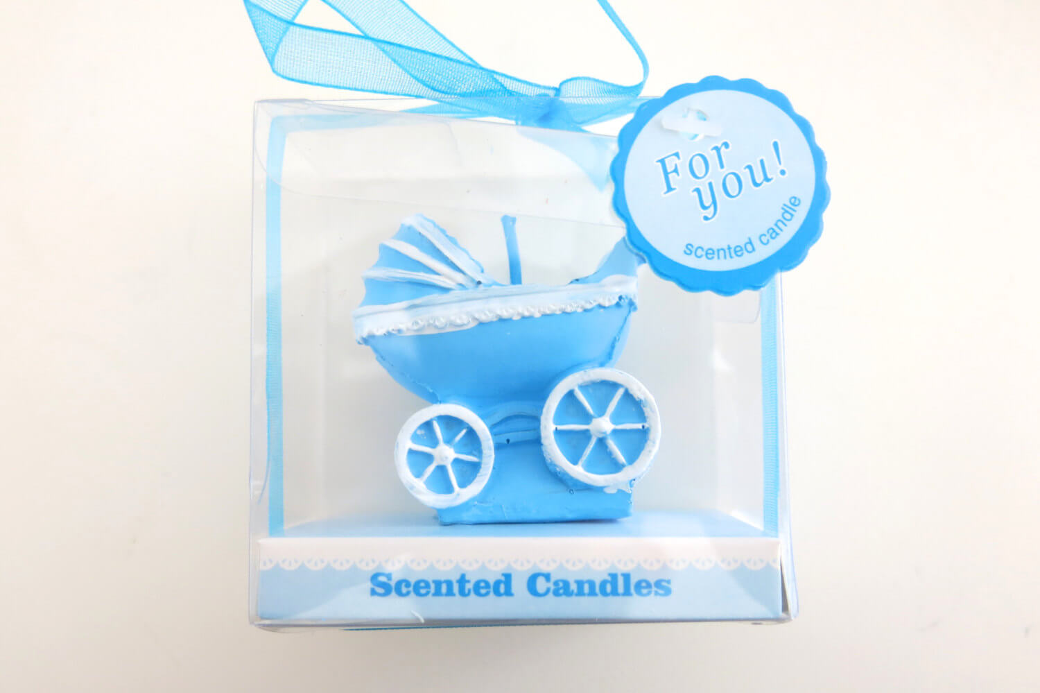 baby boy baby shower candle