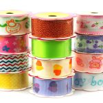 Baby Shower Ribbon Lot Assortment, 78-inch, 2-yard, 60 Rolls