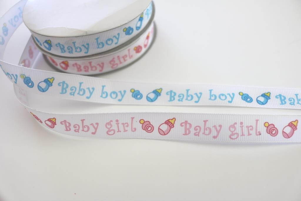 Grosgrain baby shower ribbon