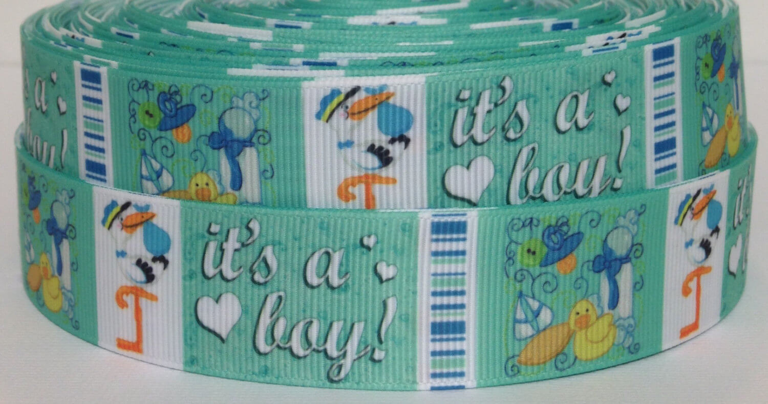 It's a Boy Grosgrain Ribbon - Baby Shower Ribbon