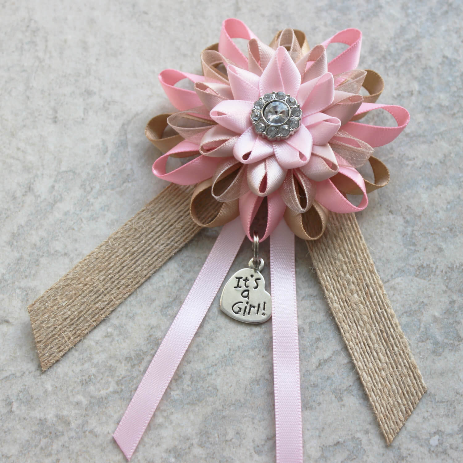Pink Baby Shower Corsage