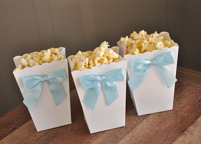 Ready to Pop Mini Popcorn Boxes with Bows