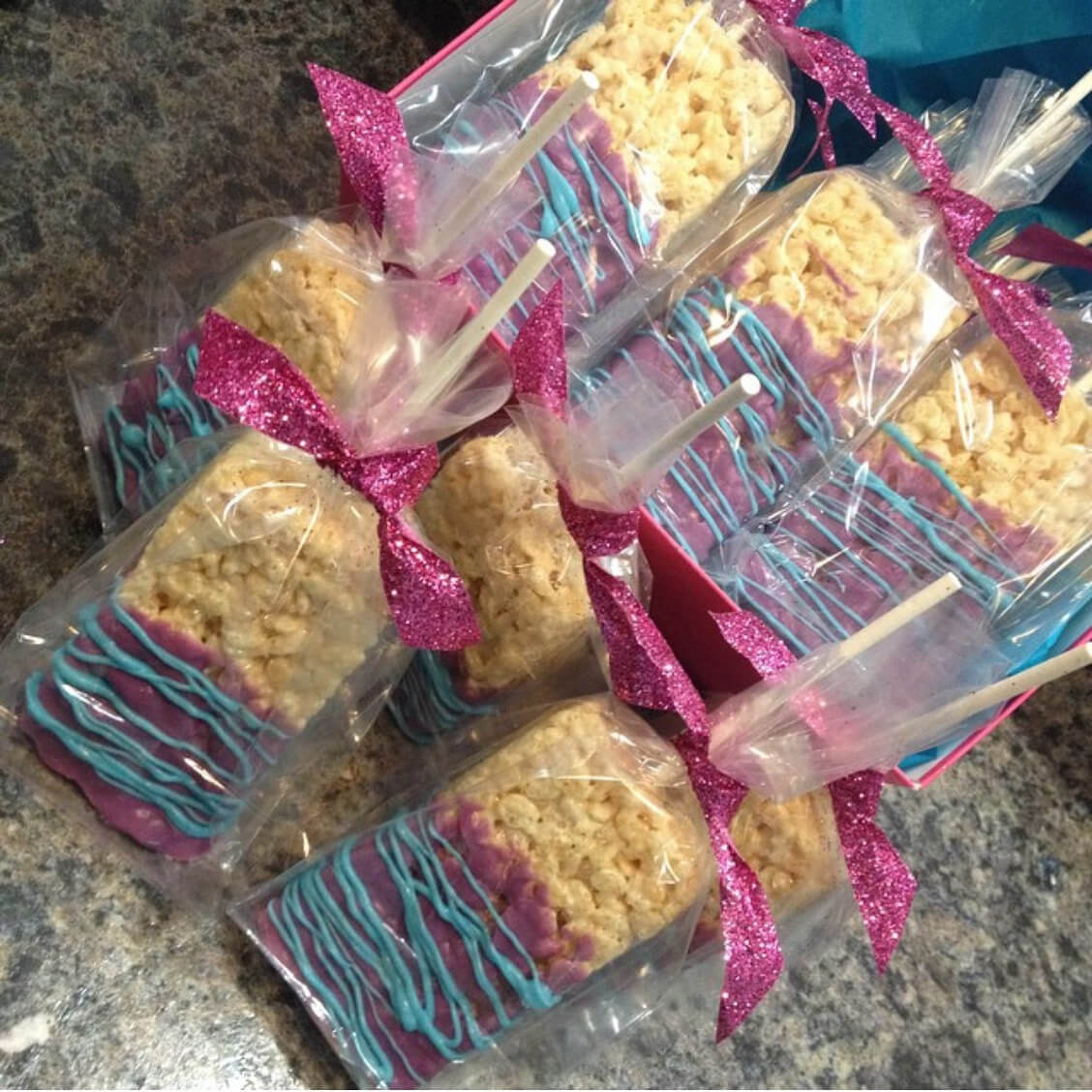 Rice Crispy Chocolate Pops