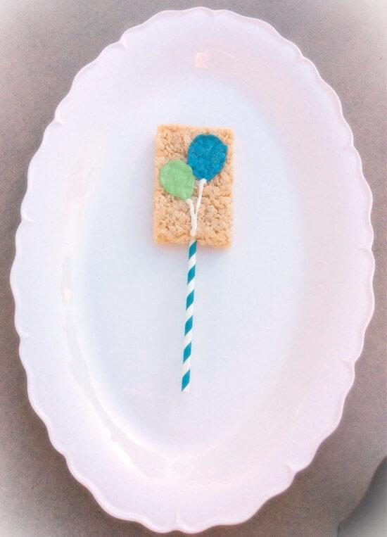 Rice Krispie Crispy Favor With Balloon Decoration