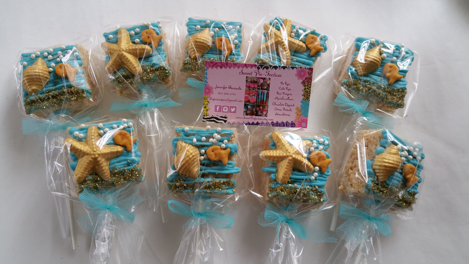 Sea Shell Rice Krispy Treats - Under the Sea