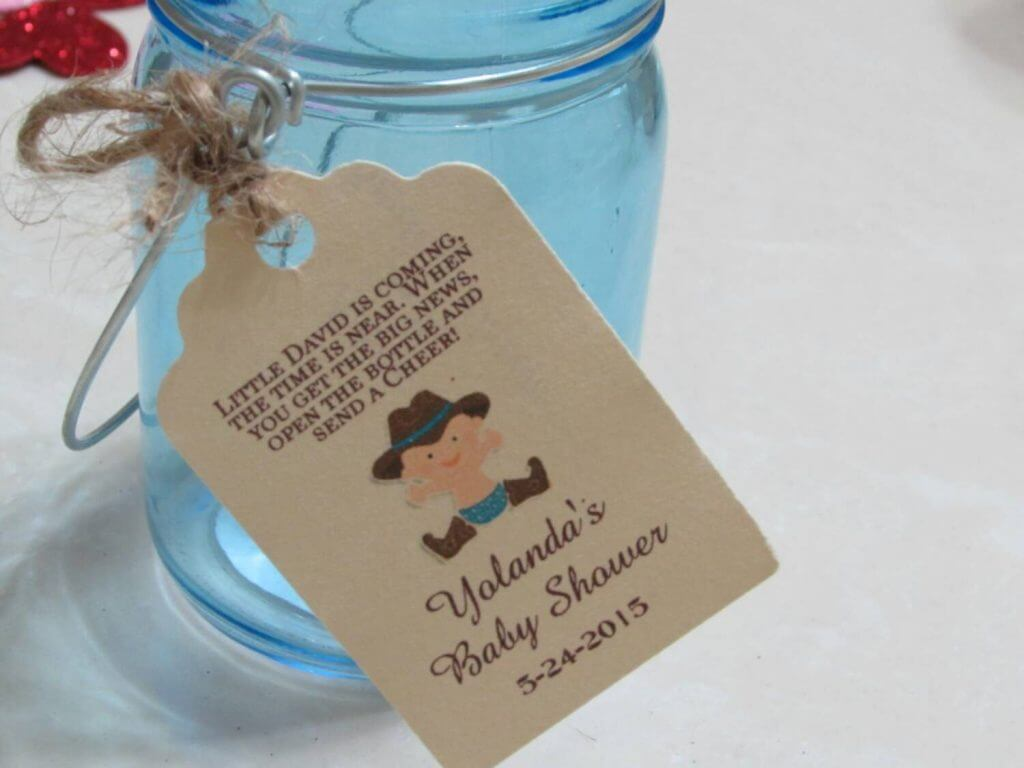 Baby Boy Shower tags