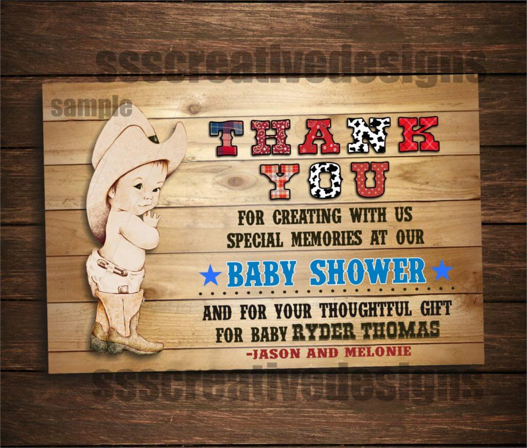 Baby Shower Boy Cowboy Western