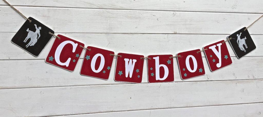 COWBOY Baby banner, baby shower banner
