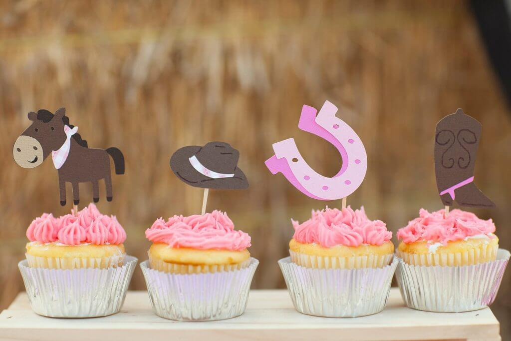 Cowgirl Cupcake toppers Set