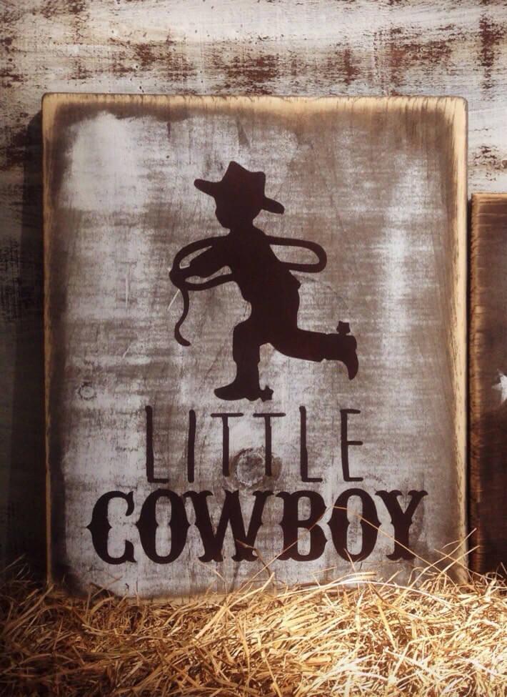 Rustic cowboy sign