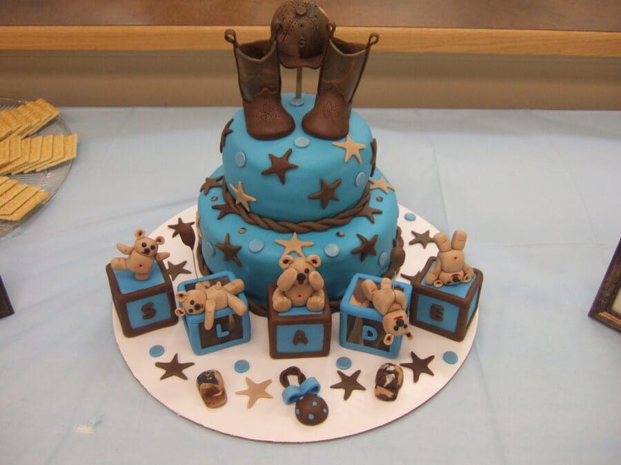 Western Baby Bear Cake