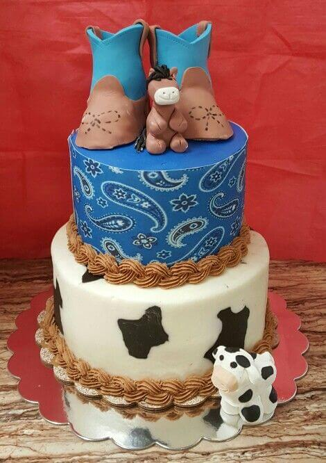 Cowboy baby shower cake ideas