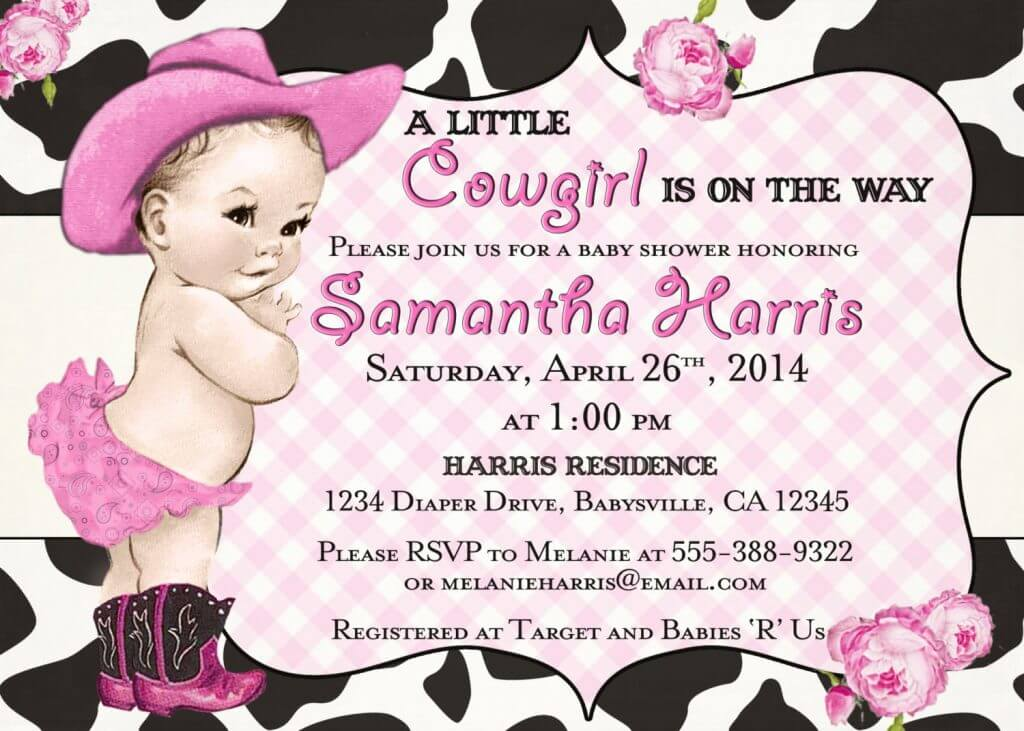 Western baby shower ideas baby ideas - Baby shower invitations and decorations ...