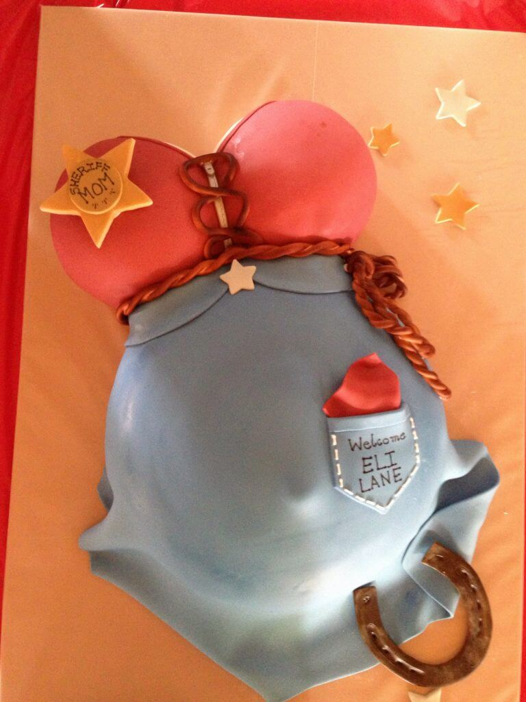 Western baby shower cake Girl
