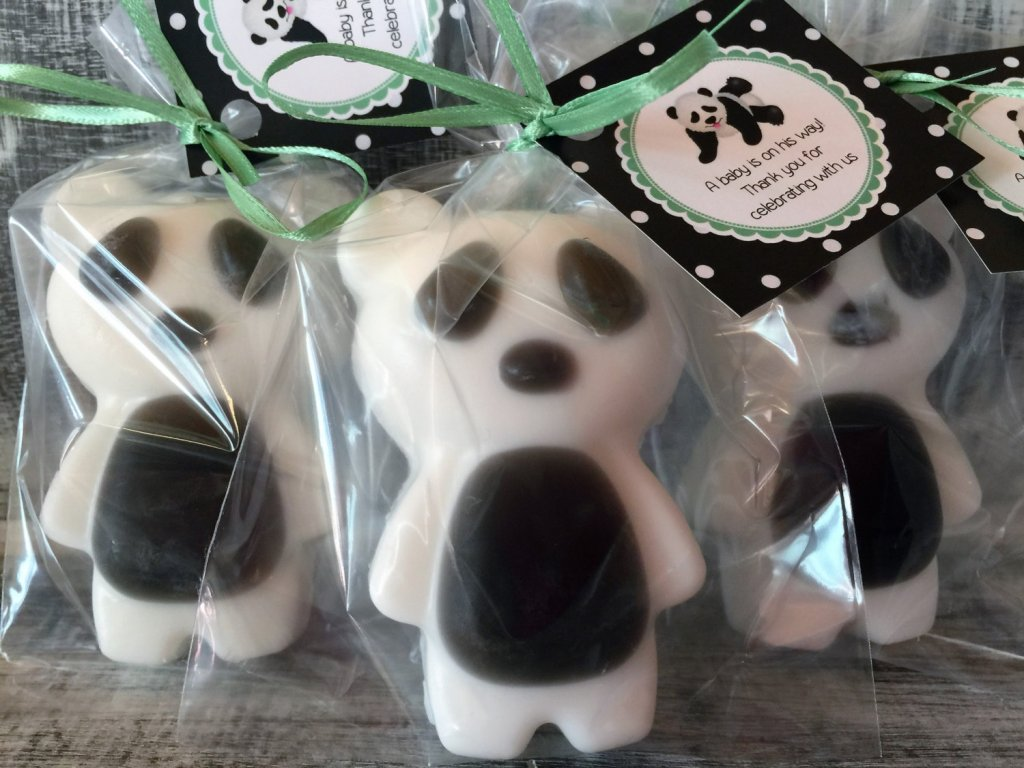 10 Large PANDA BEAR Soap Favors
