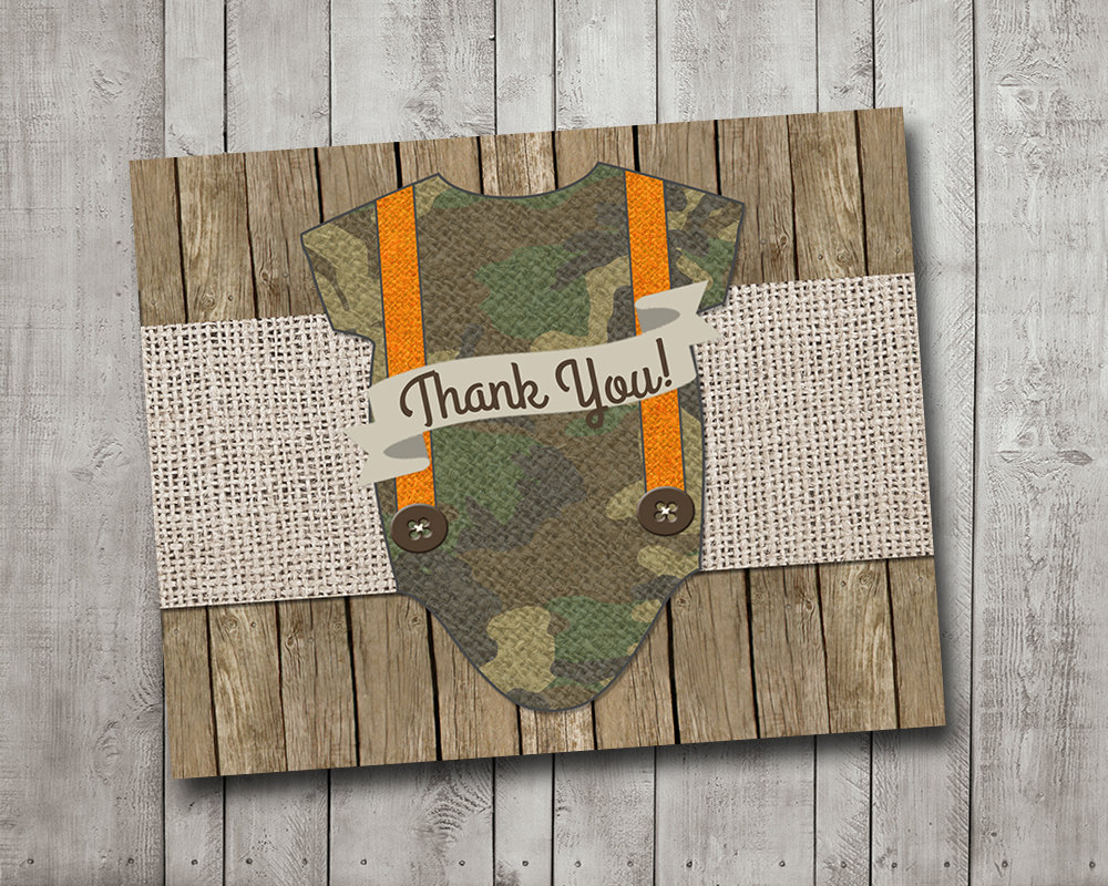 Boy Baby Shower Thank You Card