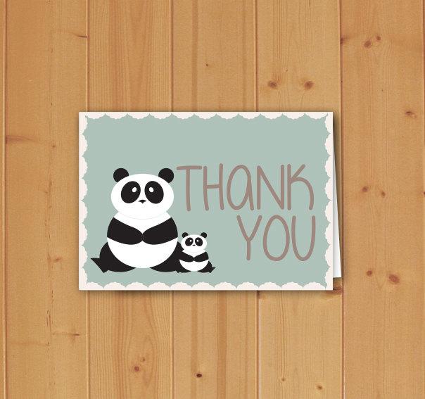 Panda Bear Baby Shower Thank You