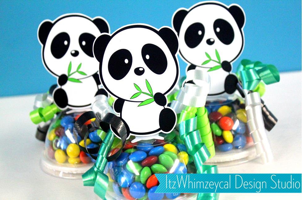 Panda Party Favors Candy Container