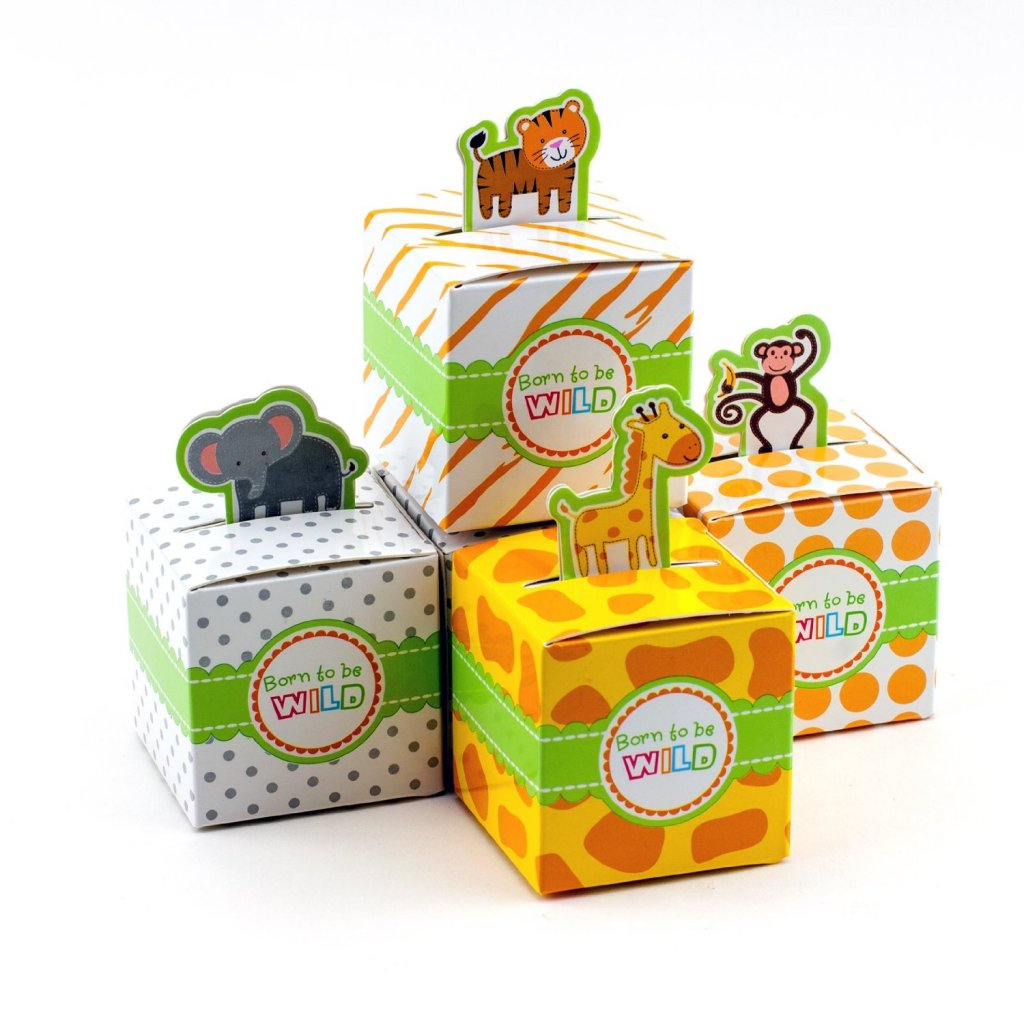 Adorox Small 72 Pcs Born To Be Wild Adorable Jungle Safari Zoo Theme Baby Shower