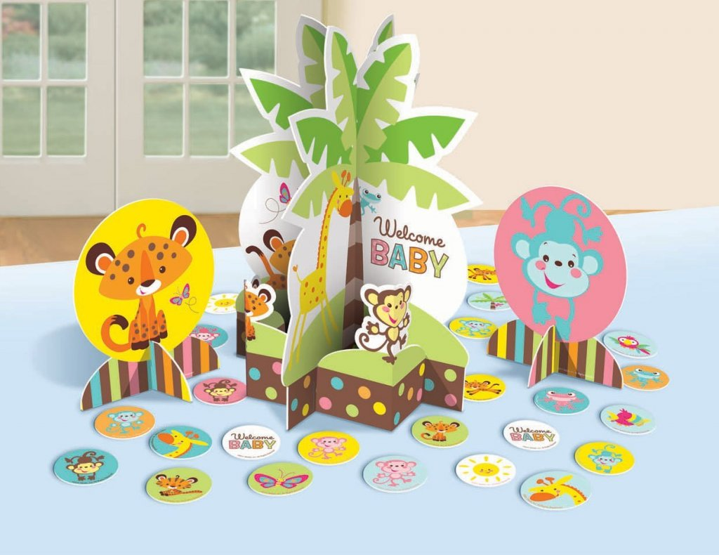 Amscan Adorable Fisher-Price Baby Shower Table Party Decorating Kit