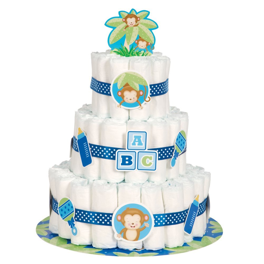 Boy Diaper Cake Decorations : Safari Baby Shower Ideas - Baby Ideas