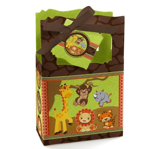 Funfari - Fun Safari Jungle - Baby Shower or Birthday Party Favor Boxes (set of 12)
