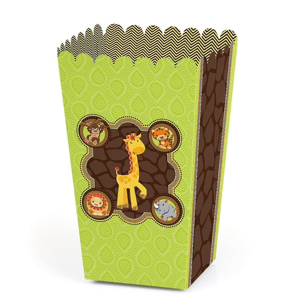 Funfari - Fun Safari Jungle - Baby Shower or Birthday Party Favor Popcorn Boxes